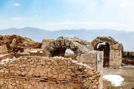 Gymnasium. Welcome to Sagalassos. Isparta, Turkey.To visit sprawling ruins of Sagalassos, high amid jagged peaks of Akdag