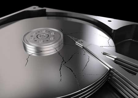 inner cylinder: broken hard disk drive