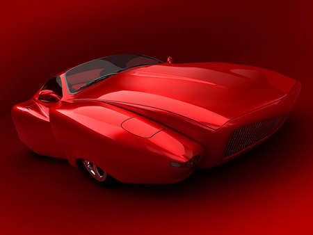 3d rendered car prototype Stock fotó