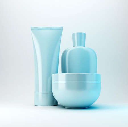 body toning: cosmetic products Stock Photo