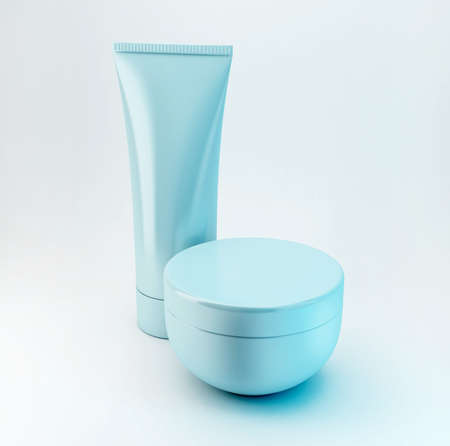 Cosmetic product, with no brand, you can write your own brand on it. Stock fotó