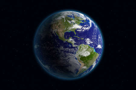 Beautiful Planet Earth. Viewing America.