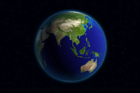 Beautiful Planet Earth. Viewing Asia.