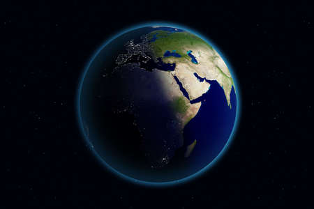 Beautiful Planet Earth. Viewing Europe day and night.
