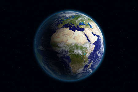 Beautiful Planet Earth. Viewing Europe. Stock Photo