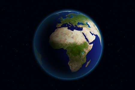 Beautiful Planet Earth. Viewing Europe. Stock Photo - 959436