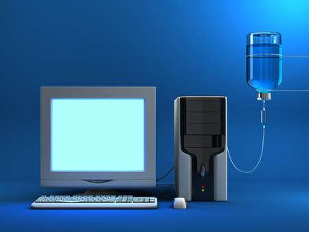tu puedes: Suero a los ancianos  enfermos ordenador. Esta vez puede colocar cualquier imagen en la pantalla.