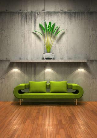 A different and unusual interior design concept