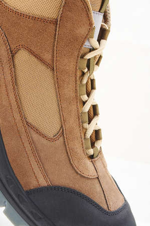 Detail view of a hiker shoe Stock Photo