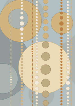 Retro style Wallpaper with nice colors Stock Vector - 2626146