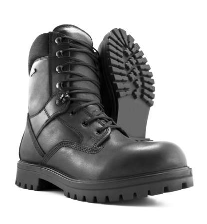 Photo of an adventure boot. Stock Photo