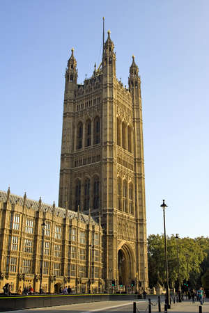 A view of Parliament Building on a sunny day. London.