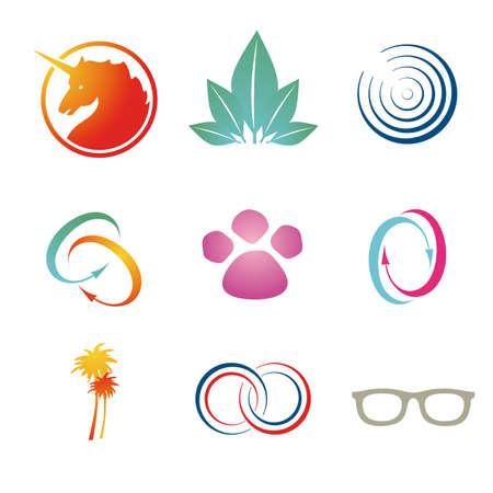 Set of corporate vector branding  logo templates. Just place your own brand name. Illusztráció