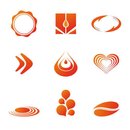Set of corporate vector branding  logo templates. Just place your own brand name. Illustration
