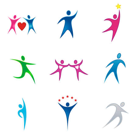 position d amour: Ensemble de l'entreprise vecteur d'image de marque  logo mod�les. Il suffit de placer votre propre nom de marque.