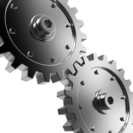 2 gears connected together. High resolution rendered. Stock Photo - 5232453