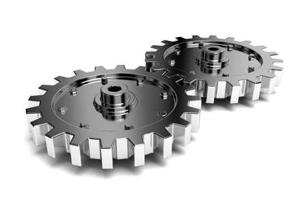 2 gears connected together. High resolution rendered. Stock Photo - 5232452