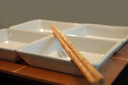 Sushi dish with wooden Chopsticks