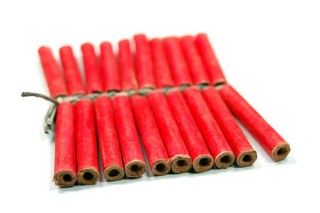 red small firecrackers with small fuse