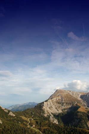 scenic shot of watzmann mountain in the bavarian alps, germany Stock Photo