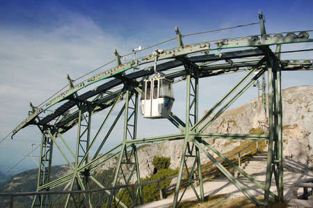 ropeway: ropeway at the watzmann mountain in the bavarian alps, germany