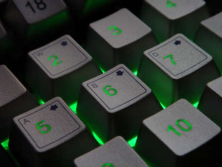 backlit keyboard Stock Photo - 837925