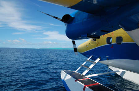 water plane on the ocean