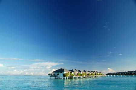 waterbungalow in the indian ocean