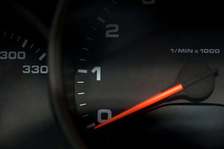 Sportscar dashboard closeup with speedometer Stock Photo - 1478632