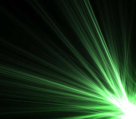 green rays of light