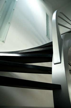 modern metal staircase