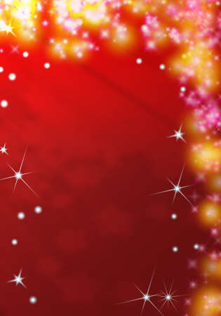 red christmas background with glittering stars