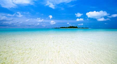 tropical island: tropical island in the indian ocean
