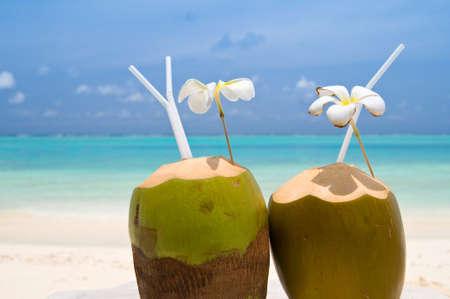 Tropischer Kokosnuss-Cocktail Standard-Bild - 9547108