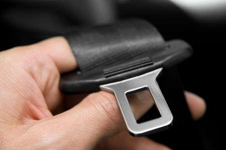 cinturon seguridad: Cintur�n de seguridad Foto de archivo