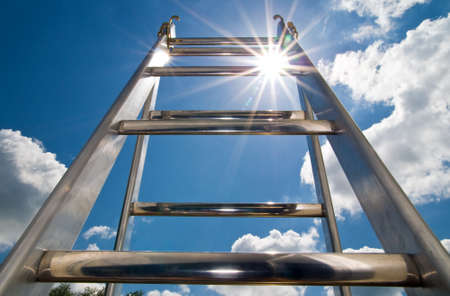 ladder of success: ladder to the sky Stock Photo