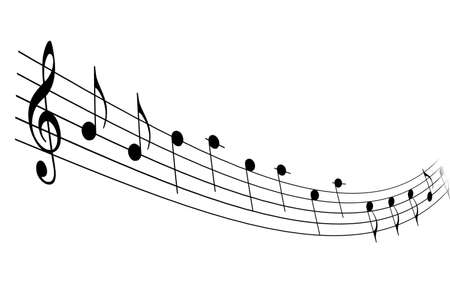 illustration of musical notation on a white background