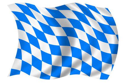 Bavaria Flag Stock Photo