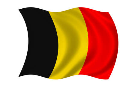Belgien-Flag Standard-Bild - 9596252