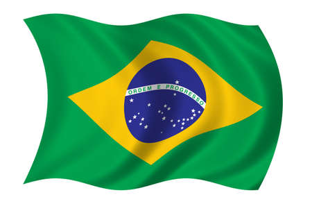 Brazil Flag Standard-Bild