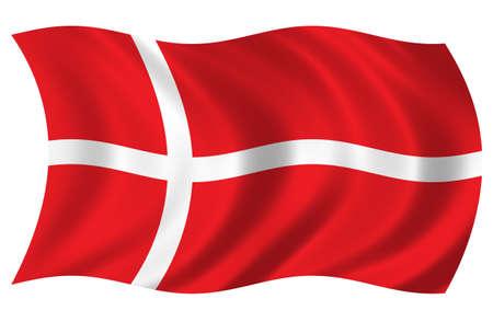 Denmark Flag 版權商用圖片