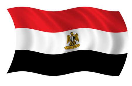 Gypten-Flag Standard-Bild - 9596287