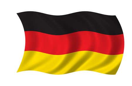 Deutschland-Flag Standard-Bild - 9596244