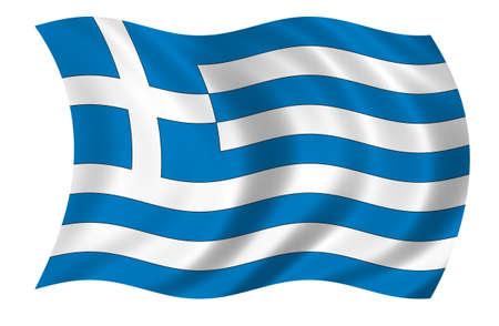 Griechenland-Flag Standard-Bild - 9596337