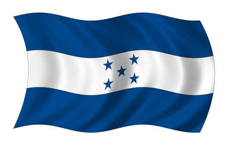 bandera honduras: Bandera de Honduras Foto de archivo