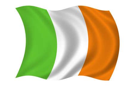 Irland-Flag Standard-Bild - 9596300