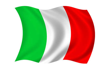 Bandiera Italia Archivio Fotografico