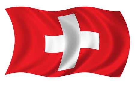 Switzerland Flag Stock Photo
