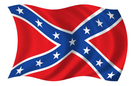 Flagge der Konföderierten Staaten von Amerika Standard-Bild - 9596343