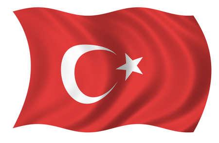 Turkey Flag 版權商用圖片 - 9596313
